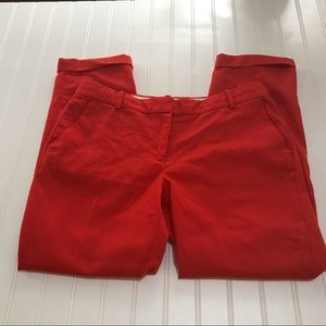 J. Crew Cafe Capri Orange Wool Pants Size 8